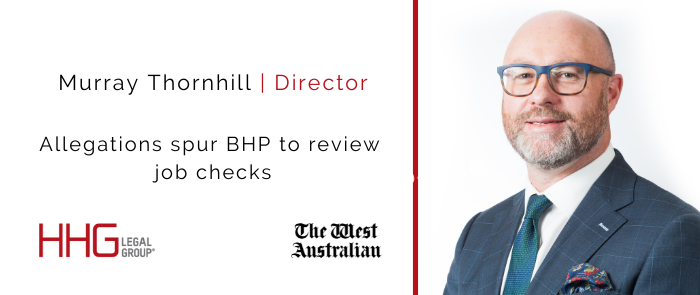 Murray Thornhill - Allegations spur BHP to review job checks